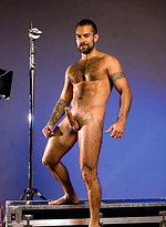 Hairy muscled macho Steve Cruz