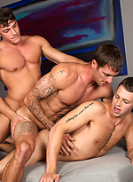 Brandon, Peter and Duncan - Bareback threesome