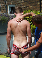Straight Young Pup Cameron - His 1st Manhandling with Extras - The Purple Dildo Returns!