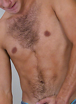 Horny Young Hairy Stud Rudy Shows off his Mighty Uncut Erection & Fires Cum Over his Head!