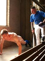 Innocent baseball jock gets violated by his nasty coach.